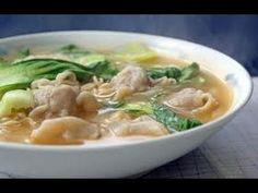 Wonton Noodle Soup- Recipe - http://2lazy4cook.com/wonton-noodle-soup-recipe/