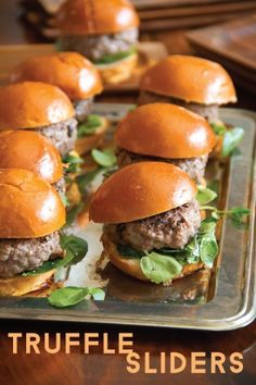 Get the Hang of Truffles with Black Truffle Sliders - SippitySup