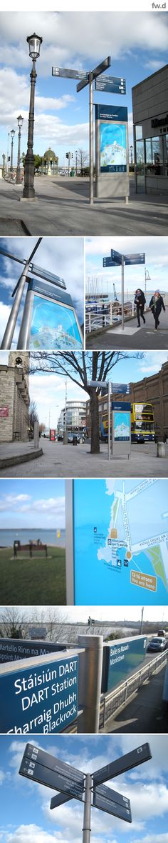 Signage and wayfinding design for Dublin Docklands by fwdesign. www.fwdesign.com