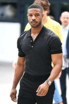"""Flawless Black Men Style Ideas That Looks Modern Flawless Black Men Style Ideas That Looks Modern - Michael B. Jordan Cannes Michael B. Jordan Flexing at the """"Fahrenheit Photocall is Everything You Need Gorgeous Black Men, Handsome Black Men, Men In Black, Beautiful, Casual Outfit Men, Black Men Casual Fashion, Michael Bakari Jordan, Black Panthers, Herren Outfit"""