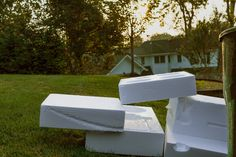 After seeing Lin May Saeed's Styrofoam aminals at the #theClark, I see styrofoam in a whole new way. #Garbage day is becoming one of my favorites for my #morningwalk #millburnnj @the_clark #clarkart Clark Art, Outdoor Furniture, Outdoor Decor, Marketing, My Favorite Things, Lady, Places, Modern, Pictures