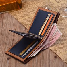 2015 New fashion men wallets short design male purse pocket wallet pu leather carteira brand