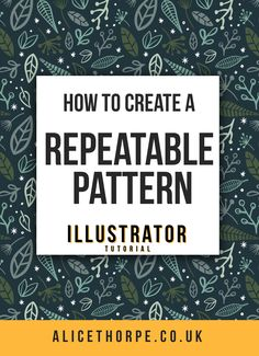 Learn how to create a seamless repeatable pattern using Adobe Illustrator. An ea… - Art Design -Art Supplies - Art Tutorial - Body Art - Contemporary Art Diy Design, Graphic Design Tutorials, Graphic Design Inspiration, Design Trends, Abstract Illustration, Pattern Illustration, Adobe Illustrator Tutorials, Photoshop Illustrator, Branding
