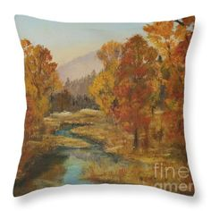 Jodi Monahan Throw Pillows - Montana in Fall Throw Pillow by Jodi Monahan www.jodimonahanartistry.com