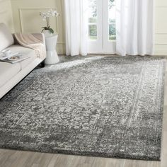 Shop for Safavieh Evoke Quinn Vintage Medallion Grey / Ivory Rug - x Get free delivery at Overstock - Your Online Home Decor Store! Get in rewards with Club O! Grey Rugs, Beige Area Rugs, Traditional Area Rugs, Transitional Rugs, Rug Material, My Living Room, Rugs Online, Online Home Decor Stores, Outdoor Rugs