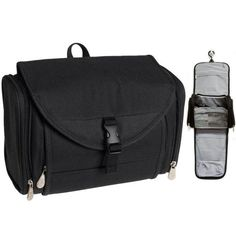 Travelon Travel Toiletry Hanging Bag Kit Black Case Organizer Shaving Beauty  New     Be sure to check out this awesome product. cd8fb64f8990b