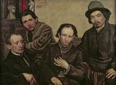 Meeting of the Painters, 1919 (oil on canvas) Creator Bilite, Jacob (20th century) Nationality Ukrainian Description from left to right: Henry Epstein (1892-1944), Chaim Soutine (1893-1943), Pinchus Kremegne (1890-1981) and the Japanese painter Ayashi; Location Tel Aviv Museum of Art, Israel Medium oil on canvas Date 1919 (C20th) Dimensions 97x130 cms