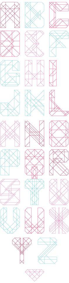 Diamond Font on Behance
