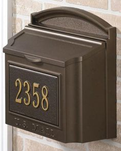 The Whitehall Custom Wall Mount Mailbox with Removable Locking Insert by Whitehall Products is on sale now. Wall Mount Mailbox, Mailboxes For Sale, Residential Mailboxes, Whitehall Products, Post Box, Address Plaque, Paint Colors For Home, Custom Wall