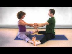 Great stretching for a couple to do together! :-)