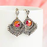 Šité náušnice od Zafírie #nausnice #earrings #slovenskydizajn #handmadepodnikanie #handmade #fashion