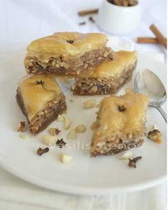 Classic Baklava - Greek Recipes by Diane Kochilas Greek Sweets, Greek Desserts, Köstliche Desserts, Greek Recipes, Delicious Desserts, Dessert Recipes, Yummy Food, Tasty, Greek Cooking