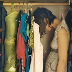 Sometimes, I feel like hanging in my closet for the day.