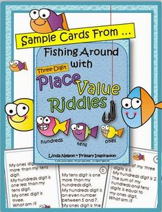 Hi, Teaching Friends! Here's a fun new challenge for your early finishers! Theyll love this set of math riddles for three digit numbers. You'll find yourself using these for math centers, bell work, Place Value Activities, Math Place Value, Place Values, Number Riddles, Math Numbers, Math Rotations, Math Centers, Numeracy, Classroom Freebies