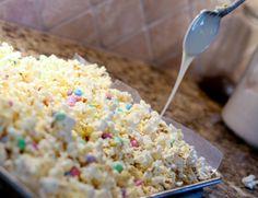 white chocolate popcorn recipe- cute gift idea