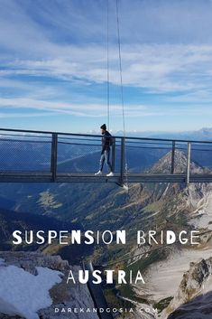 UNIQUE Things to do in Austria. Bucket List Must Haves! The hanging bridge Dachstein is accessible via cable car. The hanging bridge Dachstein is accessible via cable car. Beautiful Places To Visit, Cool Places To Visit, Places To Travel, Travel Destinations, Holiday Destinations, Visit Austria, Austria Travel, Denmark Travel, Europe Travel Guide