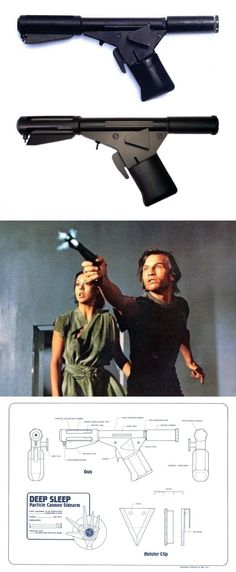 Sandman's Deep Sleep Particle Cannon Sidearm - fire blaster gun from the movie Logan's Run