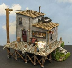 Tackle Shop, Bait And Tackle, Michael Myers House, Addams Family House, Ho Scale Buildings, Spooky Trees, Dormer Windows, Street House, Shade Trees