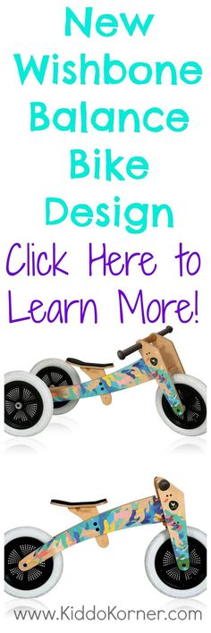 Click here to learn more about the great designs featured on Wishbone Balance Bikes: http://kiddokorner.com/wishbone-design-studio/wishbone-design-3-in-1-bike.html $229.00