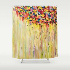 Autumn Shower Curtain Fall Shower Curtain Maya Red Photography