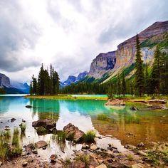 Spirit Island, Jasper National Park, Alberta (Canada).