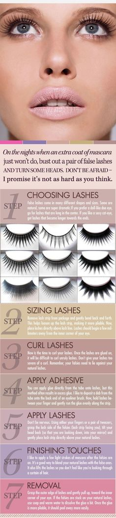 How to Apply Fake Eyelashes fashion eyes makeup eyelashes choose directions fake pictorial guide