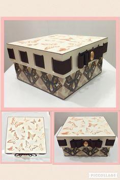 Decoupage com adesivo e estêncil by Alana Andrade