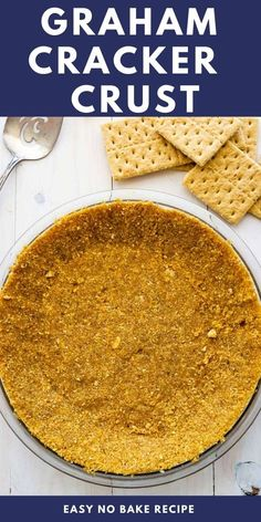 NEVER buy a store bought pie crust again when you can make this easy 4-ingredient Graham Cracker Crust. Use it for ANY pie recipe - bake or no bake! Easy Gluten Free Desserts, Easy Baking Recipes, Kitchen Recipes, Delicious Desserts, Cooking Recipes, Diabetic Desserts, Baking Tips, Yummy Food, Pie Crust Recipes