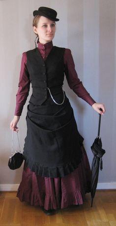 Bordeaux bustle dress by lill-sara.deviantart.com on @deviantART