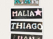 Deko Buchstaben Namenkette Kinderzimmer