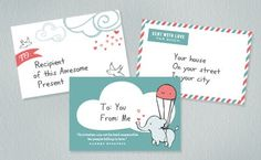 Cute, printable label freebies