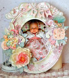 Ramka dziecięca. Baby frame. Mixed-media, mixed media.