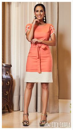LOOK BOOK 11 – Cora Canela Beautiful Prom Dresses, Simple Dresses, Nice Dresses, Casual Dresses, Short Dresses, Dresses For Work, Ivy Fashion, Fashion Outfits, Office Dresses For Women