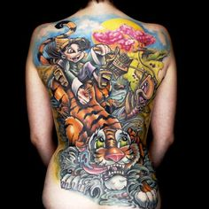 Amazing work went into this 35-hour winning master canvas. Tattoo by Ink Master Jason Clay Dunn. LOVE THIS SHOW!!