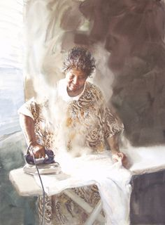Greenville County Museum of Art - June 2003 one of  Mary Whyte's  extraordinary watercolour portraits