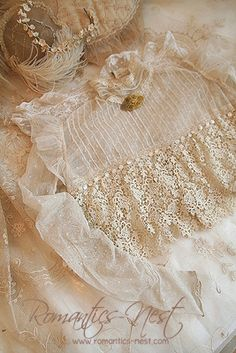 Edwardian lace - so beautiful! Antique Lace, Vintage Lace, Vintage Romance, Lace Ribbon, Lace Fabric, Fru Fru, Passementerie, Pearl And Lace, Lace Outfit