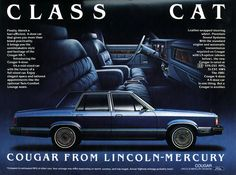 Class cat: Cougar from Lincoln-Mercury