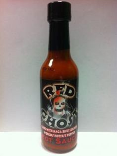 Red Ghost - Made with Naga Bhut Jolokia, Worl'd Hottest Pepper. Cayenne 40,000 scoville units.