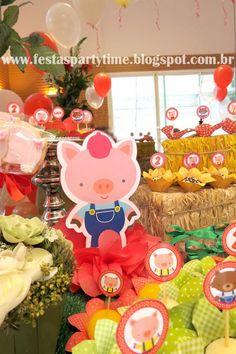 O conto de fadas Três Porquinhos ganhou vida nesta linda e rica decoração que a Party Time montou!  Ótima opção para quem quer sair...