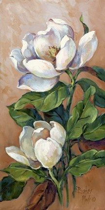 Magnolia - TouCanvas - Magnolia – Premium quality flower canvas art – available framed or gallery wrapped from TouCan - Acrylic Painting Flowers, Acrylic Painting Canvas, Watercolor Flowers, Watercolor Paintings, Flower Canvas Art, Flower Art, Magnolia Paint, Indian Art Paintings, Arte Floral