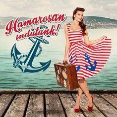 sailor bridesmaids dress by ticci rockabilly clothing Rossmann Magyarország campaign photo: Zoltán Sárosi make-up: Saci Tombor hair: Csaba Herczeg GEPÁRD dress: TiCCi Rockabilly Clothing