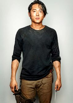 Outtakes of Steven Yeun as Glenn Rhee photographed by Dylan Coulter for the September 2014 issue of Entertainment Weekly