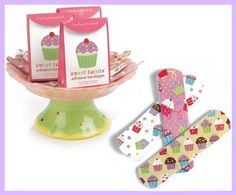 Sweet Treats Adhesive Bandages - 30 Cupcake Band Aids