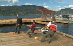 New Kelowna pier in place! Join us tomorrow for the Grand Opening!