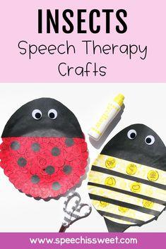 Speech Language Therapy, Speech Language Pathology, Speech And Language, Speech Therapy Activities, Language Activities, Learning Activities, May Speech, Bug Crafts, Therapy Ideas