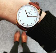 "Campina Silver ""Brown Croco Leather"" - Armbanduhr von Kapten & Son By : Magasin 2"
