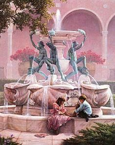 """""""FOUNTAINS OF MY YOUTH"""", by Greg Olsen"""