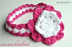 My Merry Messy Life: Crochet Seed Stitch Baby Headband {free crochet pattern}. LOVE this headband pattern. Crochet Headband Pattern, Crochet Baby Hats, Free Crochet, Knit Crochet, Ravelry Crochet, Crochet Toddler, Crochet Patterns For Beginners, Easy Crochet Patterns, Crocheting Patterns