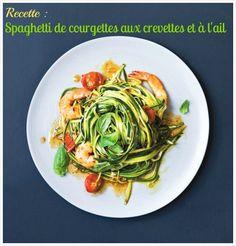 Courgettes + ail + crevettes = recette d'été !