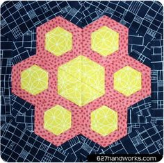 Garfunkel Hexagon Block Pattern   This 60s inspired block pattern is one of our new faves!